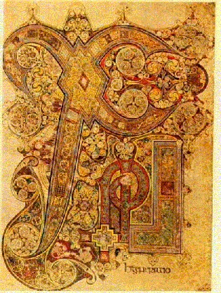 Extrait du Book of Kells