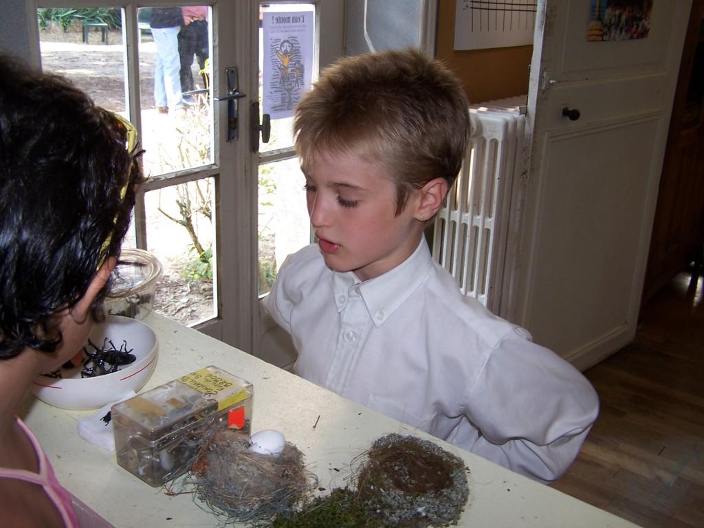 En janvier, dans sa nouvelle école à Pouzy-Mésangy