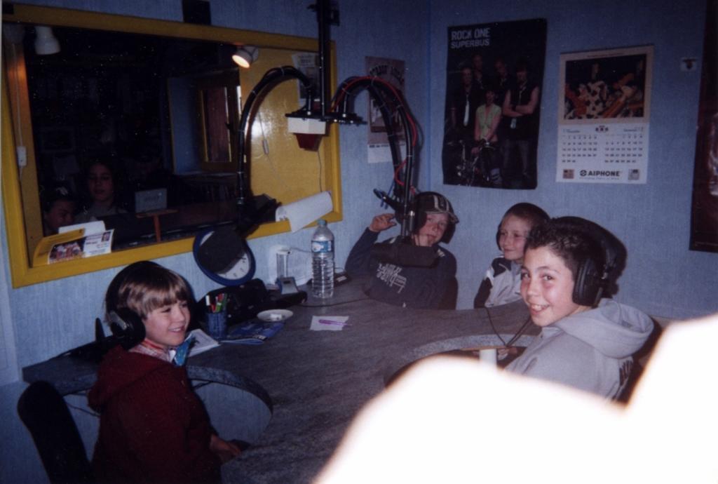 En mai, enregistrement d'une émission dans les studios de la radio Qui-qu'en-grogne à Bourbon l'Archambault